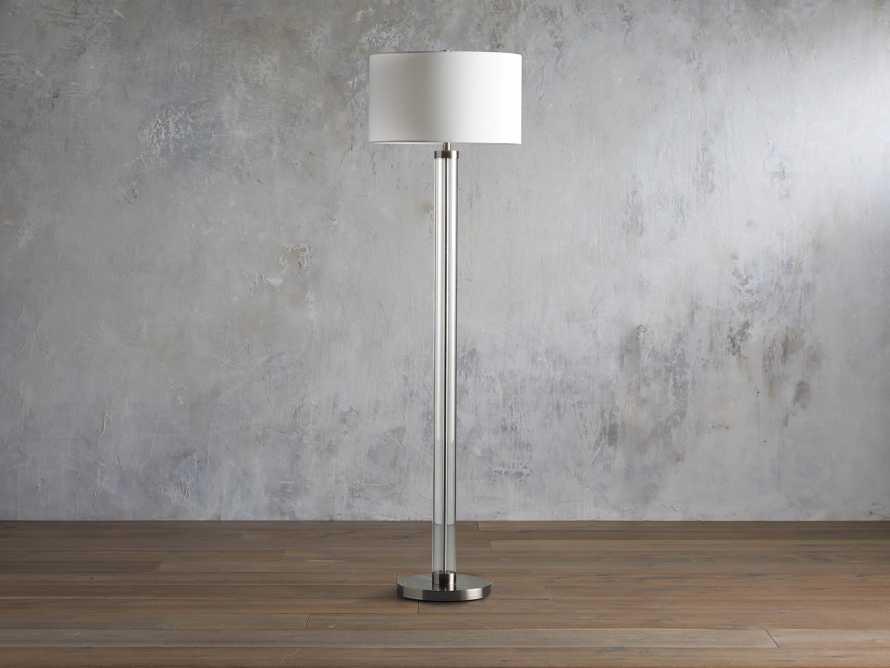 Glass Column Nickel Floor Lamp, slide 2 of 4