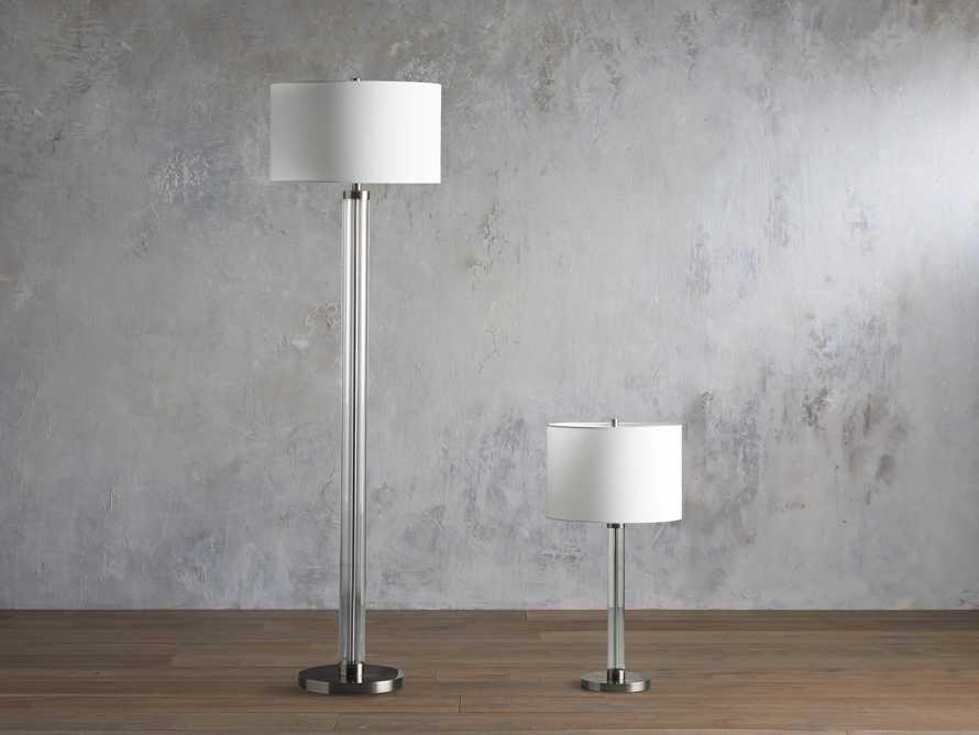 Glass Column Nickel Table Lamp, slide 3 of 4