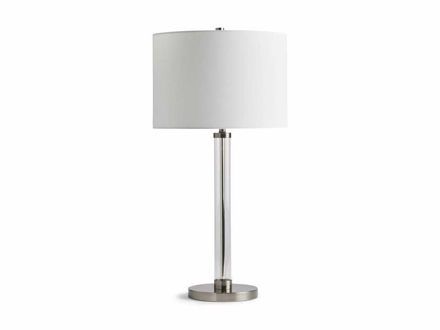 Glass Column Nickel Table Lamp, slide 4 of 4