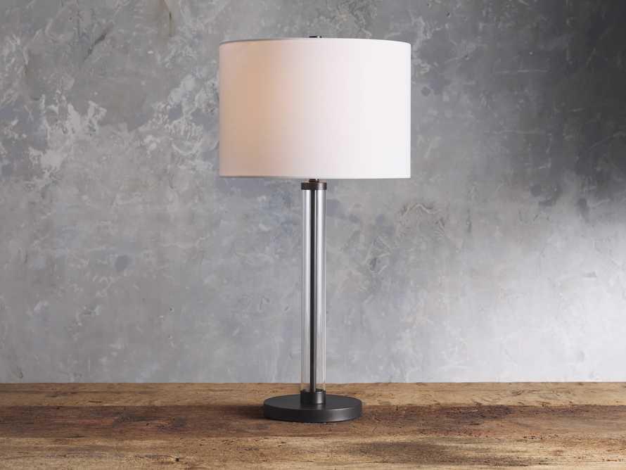 Glass Column Oil Rubbed Bronze Table Lamp, slide 1 of 6
