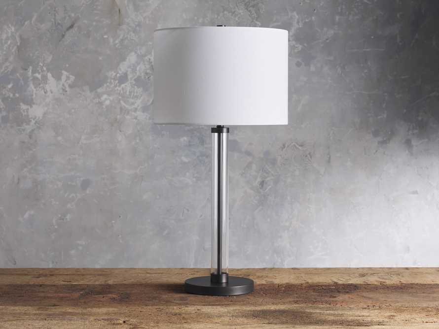 Glass Column Oil Rubbed Bronze Table Lamp, slide 2 of 6