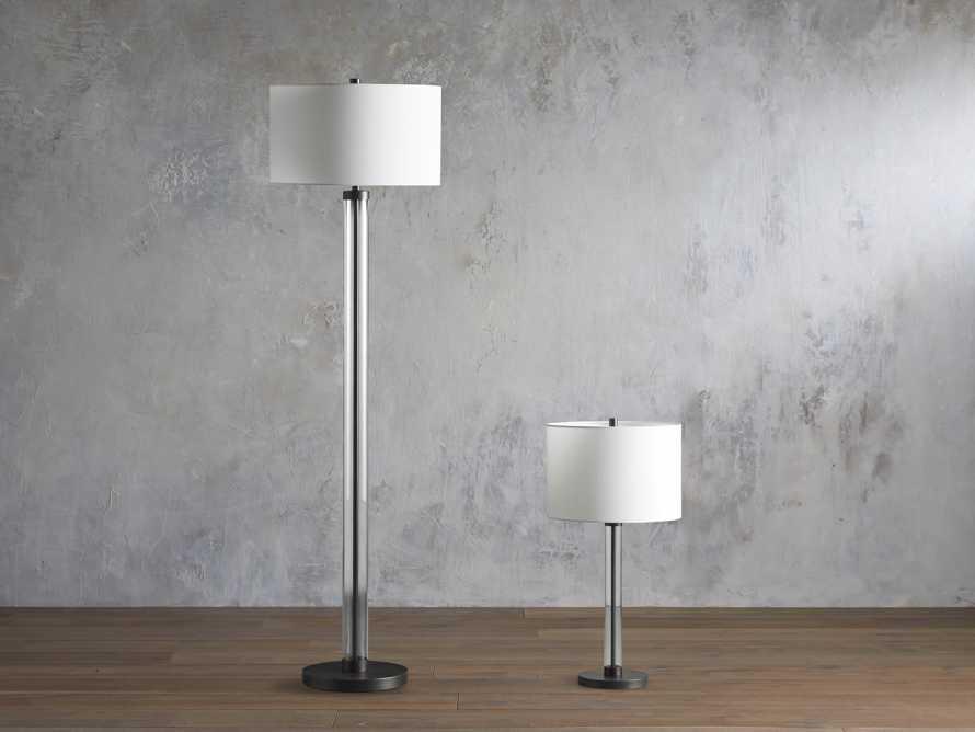 Glass Column Oil Rubbed Bronze Table Lamp, slide 3 of 6