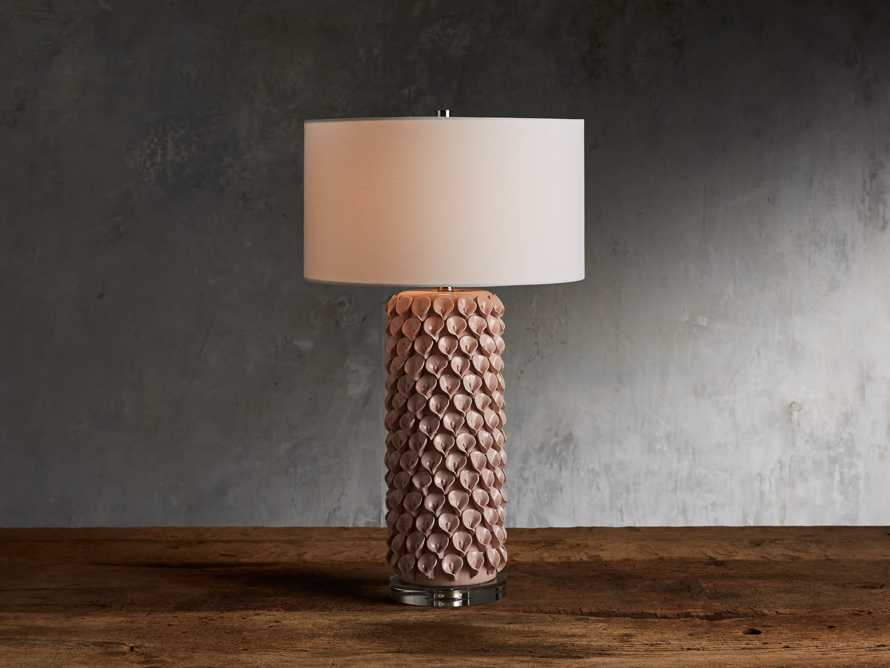 Pink Lily Table Lamp