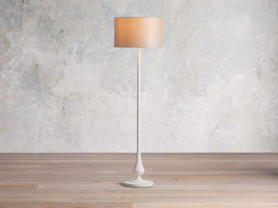 Sutherlin Gesso Floor Lamp, slide 1 of 6
