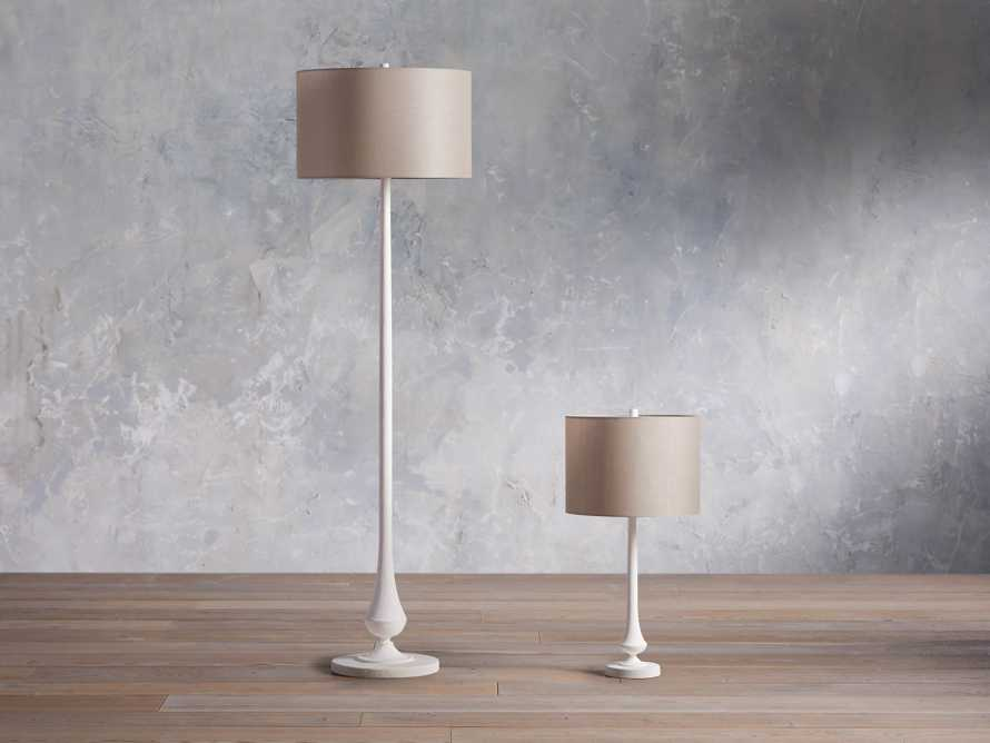 Sutherlin Gesso Floor Lamp, slide 4 of 6