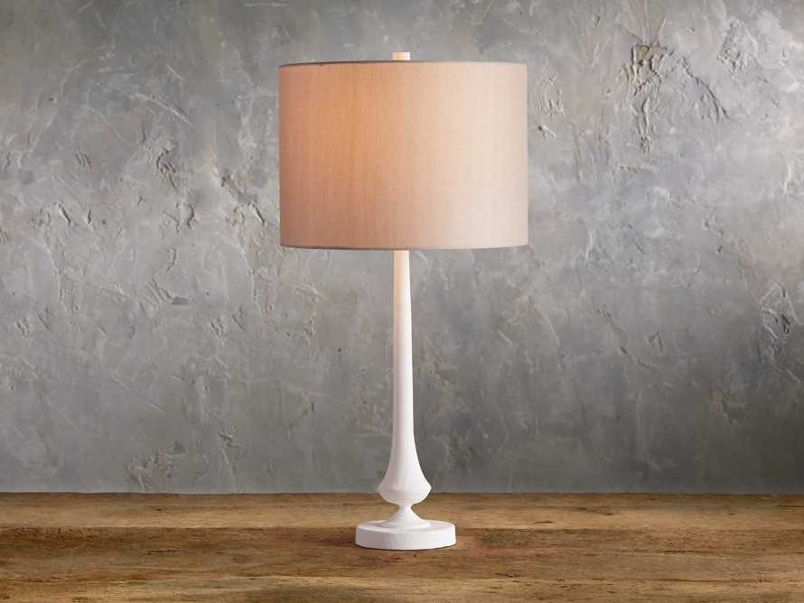 Sutherlin Gesso Table Lamp, slide 1 of 7
