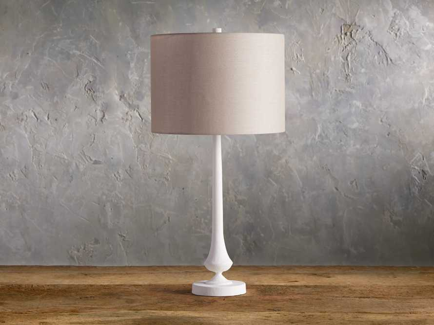 Sutherlin Gesso Table Lamp, slide 2 of 7