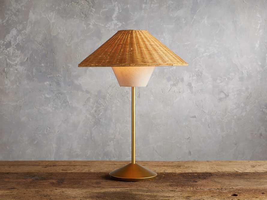 Farrah Rattan Table Lamp, slide 1 of 6