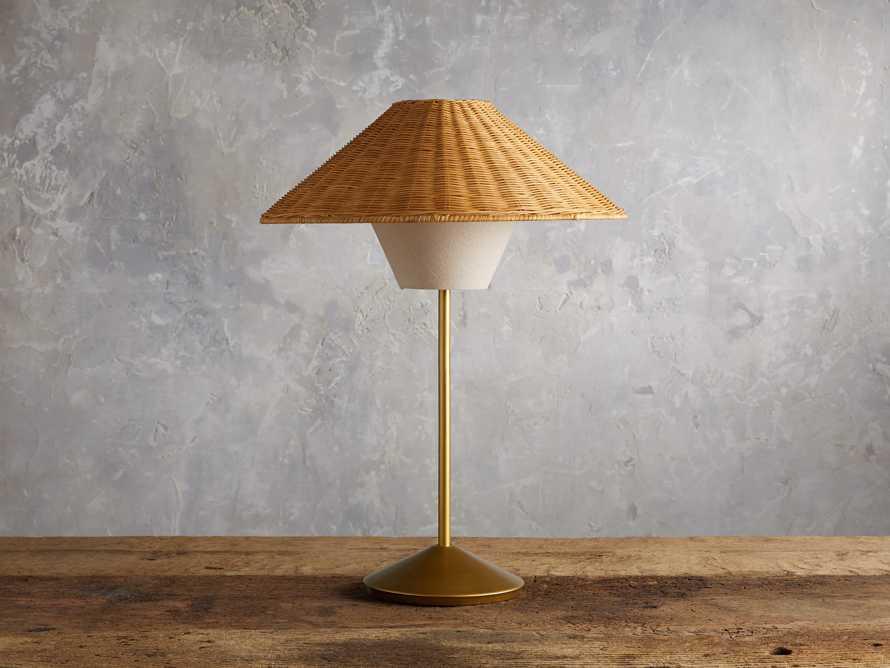 Farrah Rattan Table Lamp, slide 2 of 6