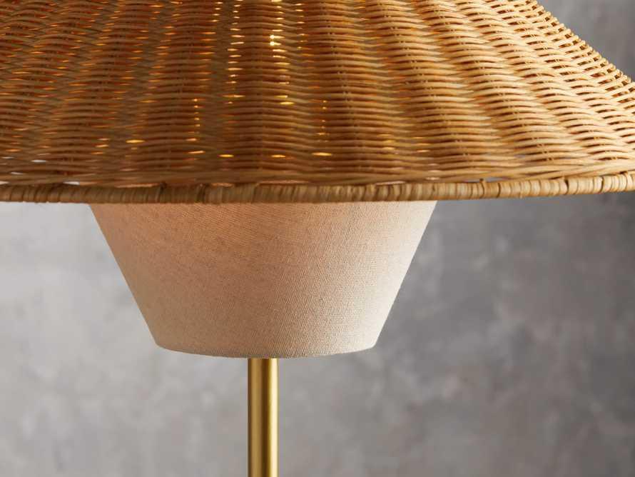 Farrah Rattan Table Lamp, slide 3 of 6
