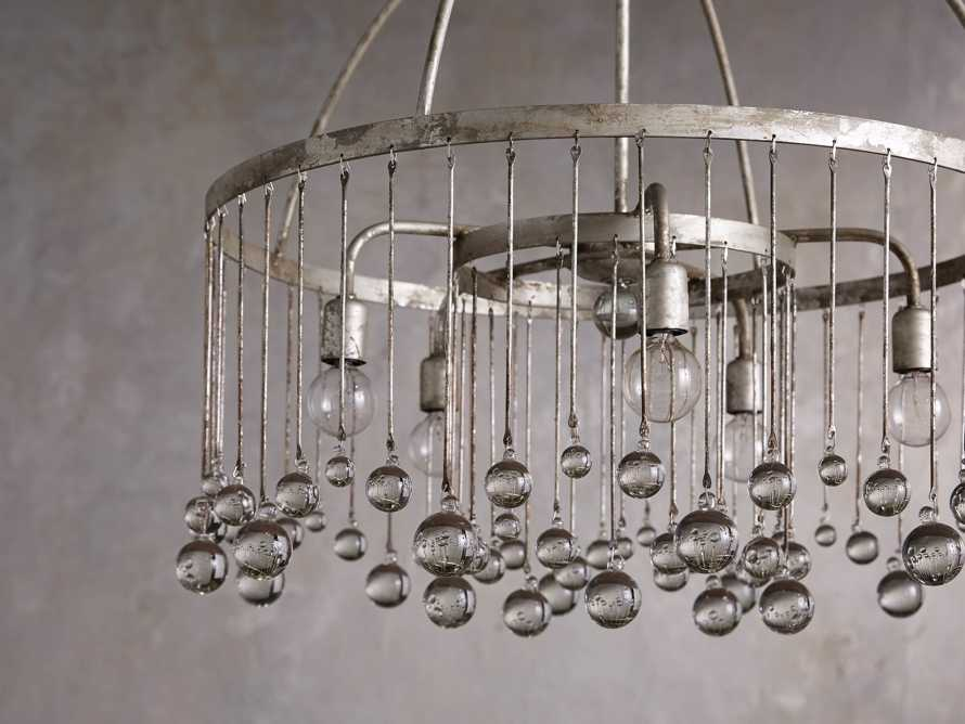 Aubrey Five Light Chandelier in Silver, slide 2 of 8
