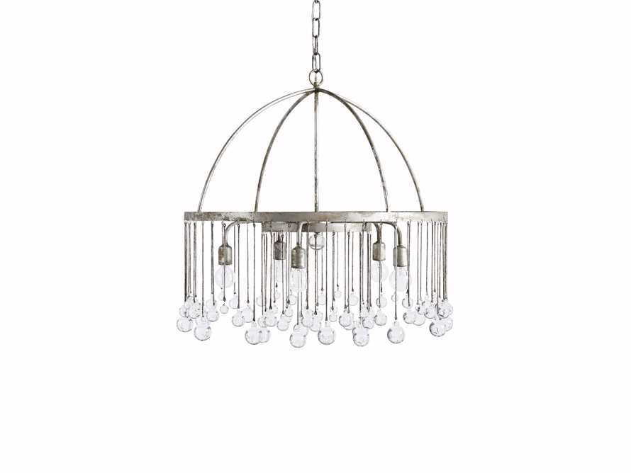 Aubrey Five Light Chandelier in Silver, slide 5 of 8
