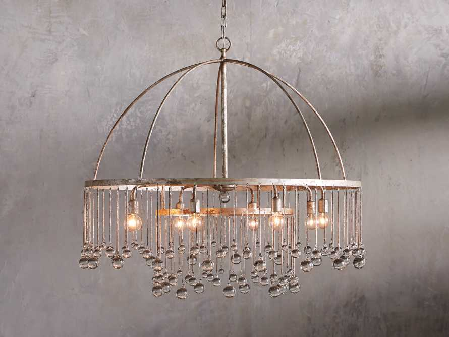 AUBREY 8-LIGHT CHANDELIER IN SILVER, slide 1 of 7