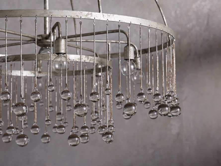 AUBREY 8-LIGHT CHANDELIER IN SILVER, slide 2 of 7