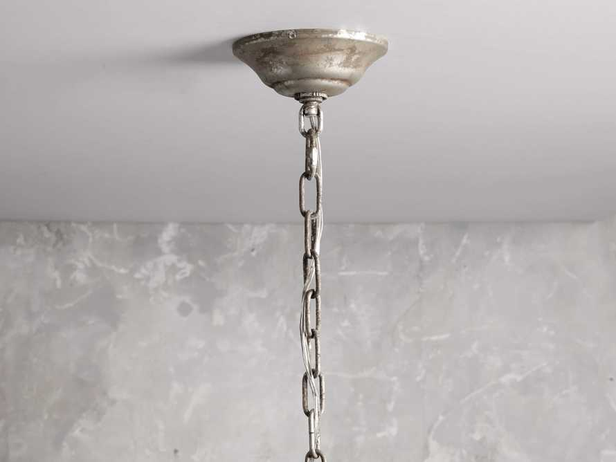 AUBREY 8-LIGHT CHANDELIER IN SILVER, slide 3 of 7