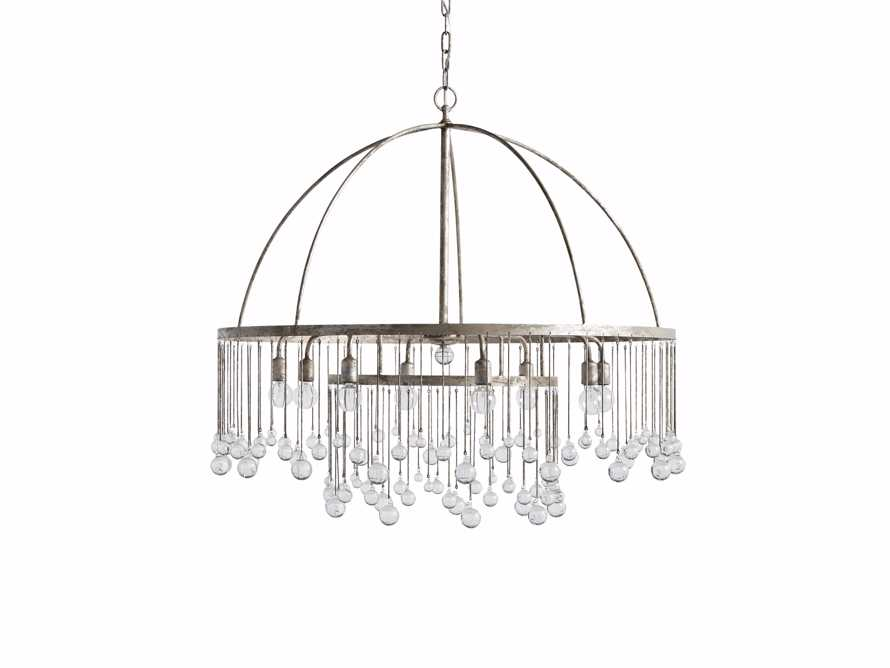 AUBREY 8-LIGHT CHANDELIER IN SILVER, slide 5 of 7