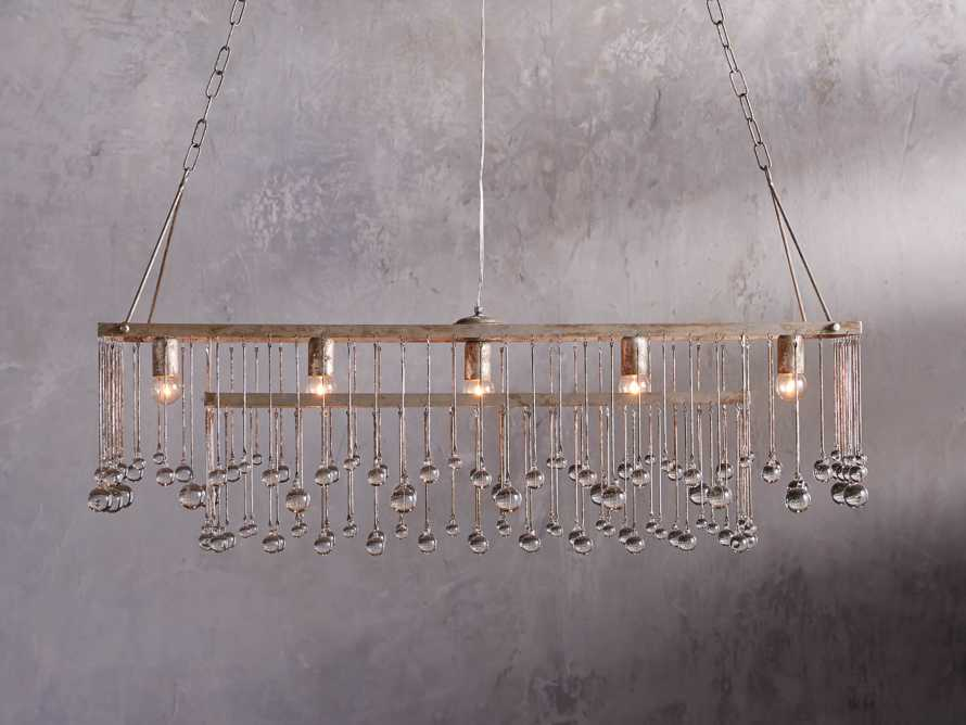 Aubrey Large Rectangle Chandelier in Silver, slide 1 of 5