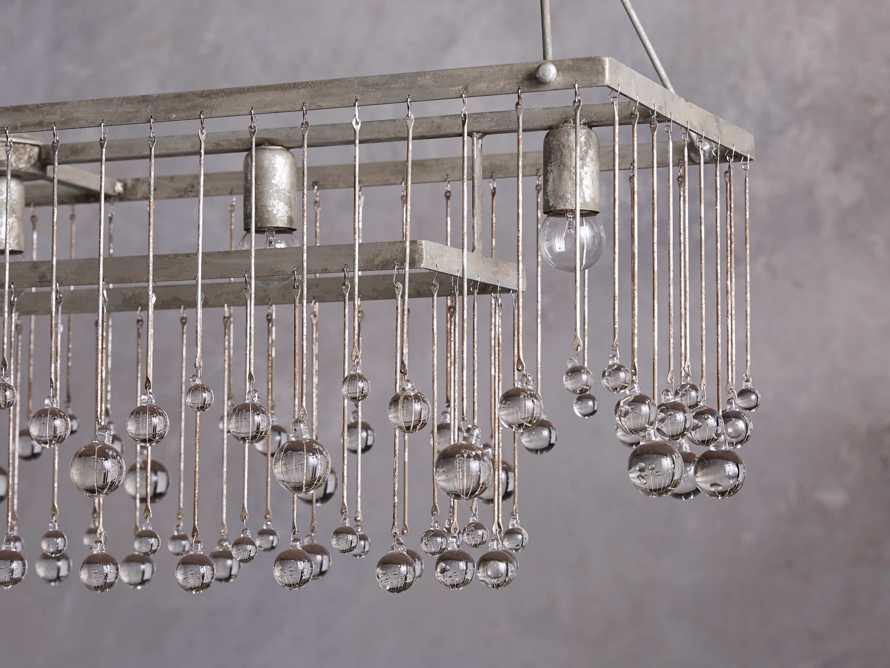 Aubrey Large Rectangle Chandelier in Silver, slide 2 of 5