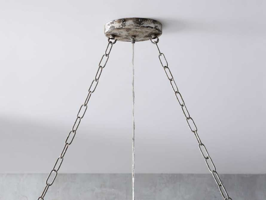 Aubrey Large Rectangle Chandelier in Silver, slide 3 of 5