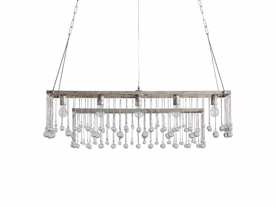 Aubrey Large Rectangle Chandelier in Silver, slide 5 of 5