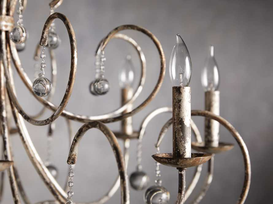 Large Scroll Ball Chandelier in Silver, slide 2 of 6