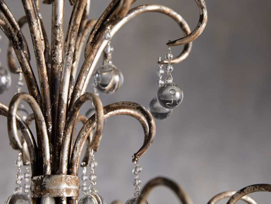 Large Scroll Ball Chandelier in Silver, slide 3 of 6