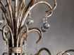 Large Scroll Ball Chandelier in Silver