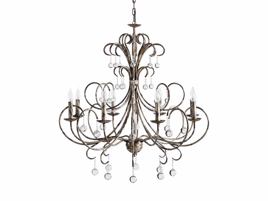 Large Scroll Ball Chandelier in Silver, slide 5 of 6