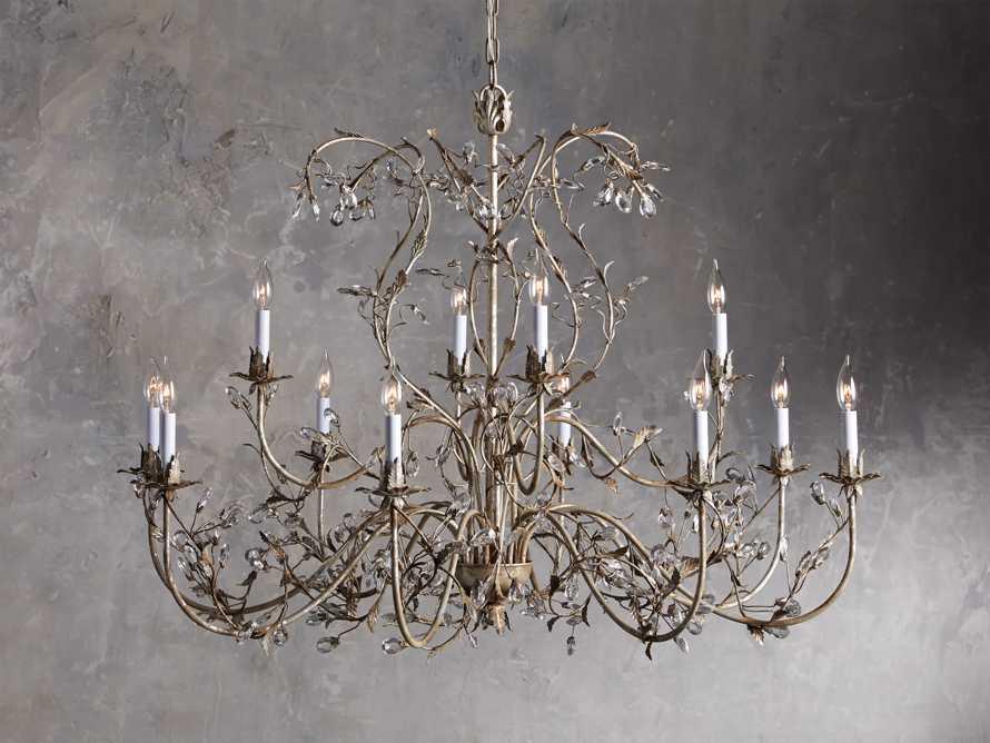 12 Light Chandelier in Silver