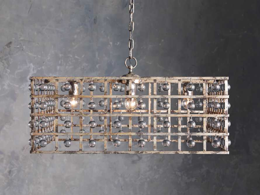 La Cage Square Silver Clay Chandelier, slide 2 of 5