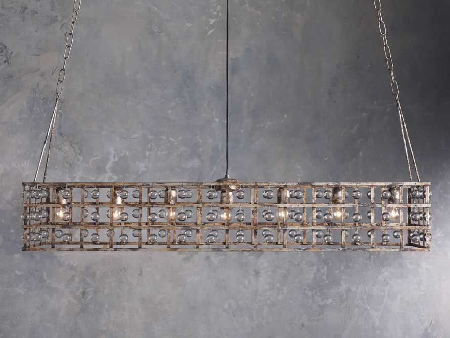 LA CAGE 6-LIGHT CHANDELIER IN SILVER CLAY, slide 1 of 6