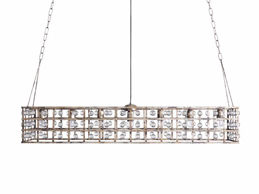 LA CAGE 6-LIGHT CHANDELIER IN SILVER CLAY, slide 6 of 6