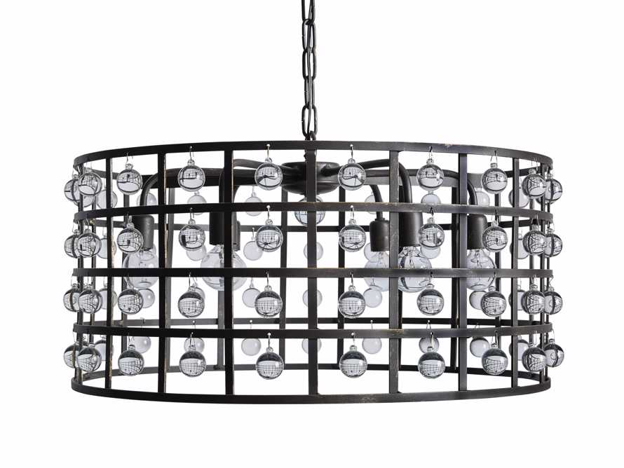 La Cage 6 Light Chandelier in Bronze