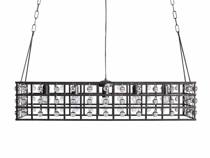 La Cage 5 Light Rectangle Chandelier in Bronze