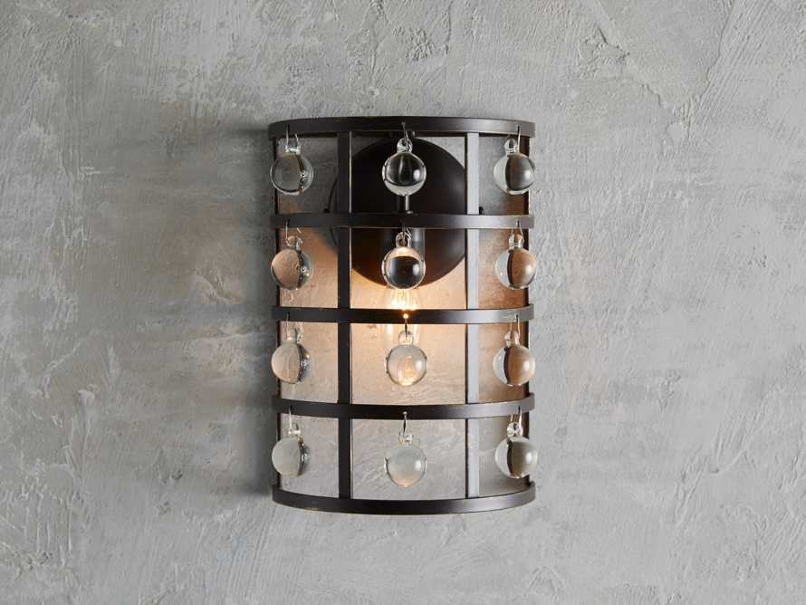 La Cage 1 Light Wall Sconce in Bronze, slide 1 of 3