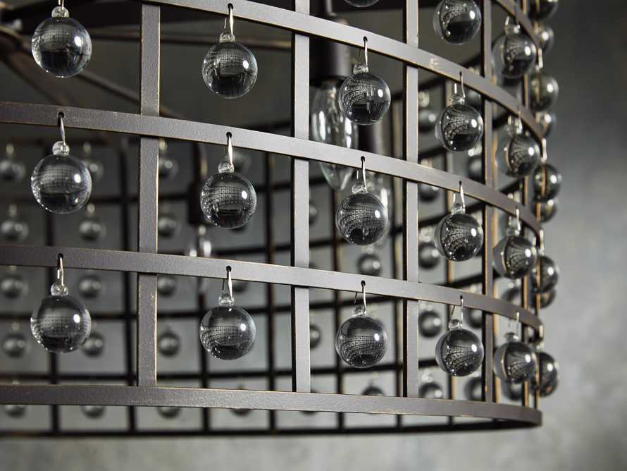 """La Cage 36"""" 8 Light Chandelier in Bronze"""