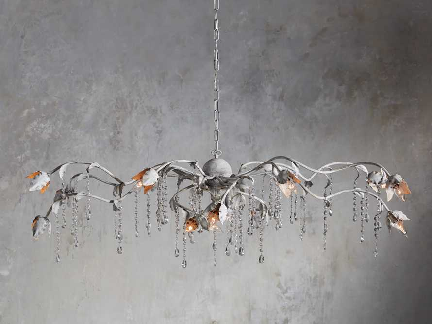 VITICCIO CHANDELIER IN WHITE, slide 1 of 6