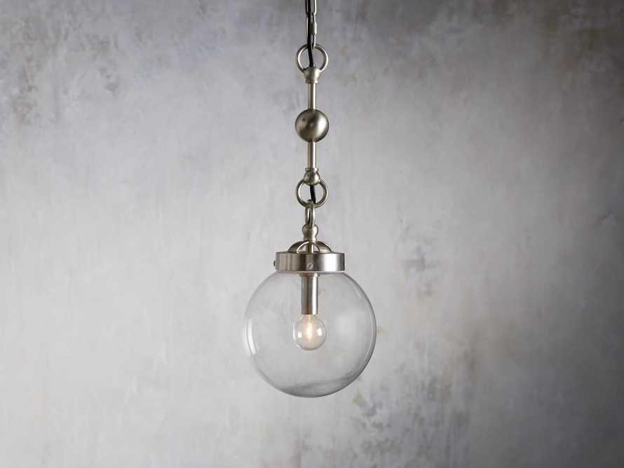 Small Globe Pendant in Silver, slide 1 of 6
