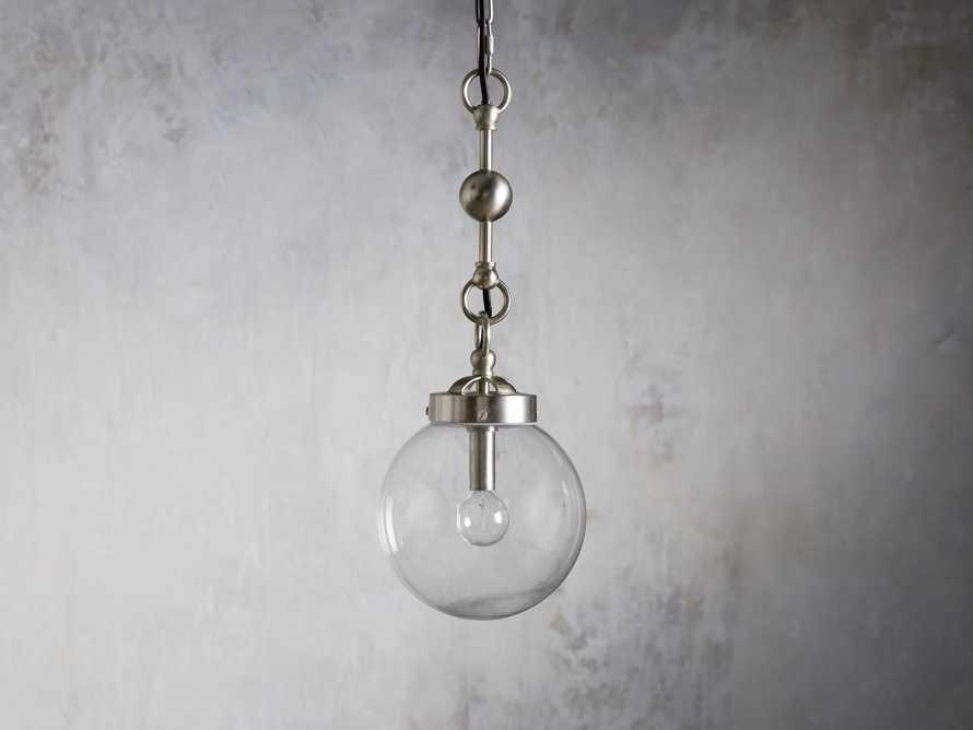 Small Globe Pendant in Silver, slide 2 of 6