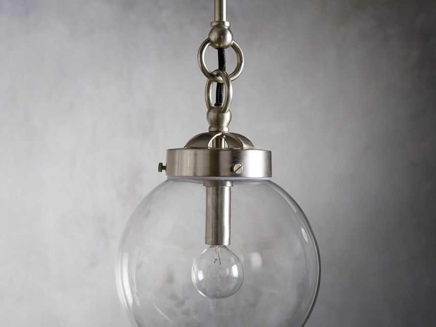Small Globe Pendant in Silver, slide 3 of 6
