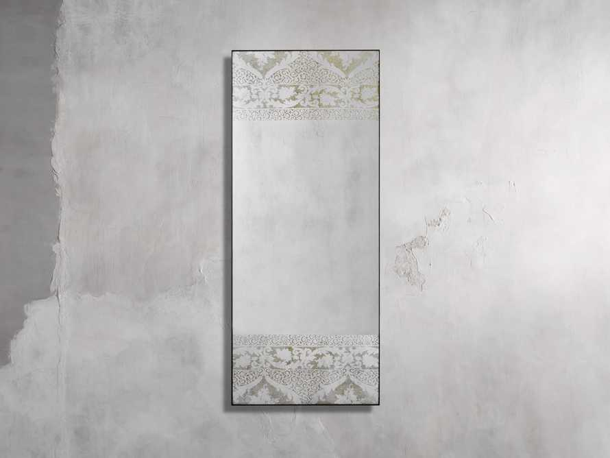 "KALINDA 72"" NARROW FLOOR MIRROR IN WHITE, slide 1 of 5"