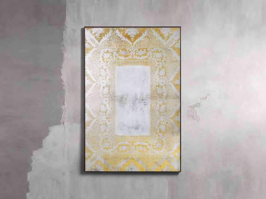 """SOLANGE 48"""" WALL MIRROR IN GOLD, slide 1 of 2"""