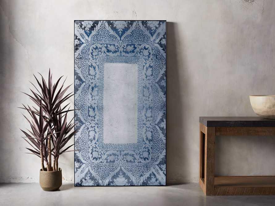 Solange Floor Mirror in Blue, slide 1 of 2