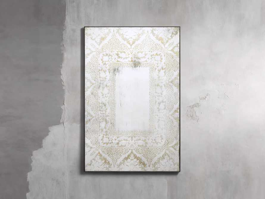 "SOLANGE 48"" WALL MIRROR IN WHITE, slide 1 of 2"