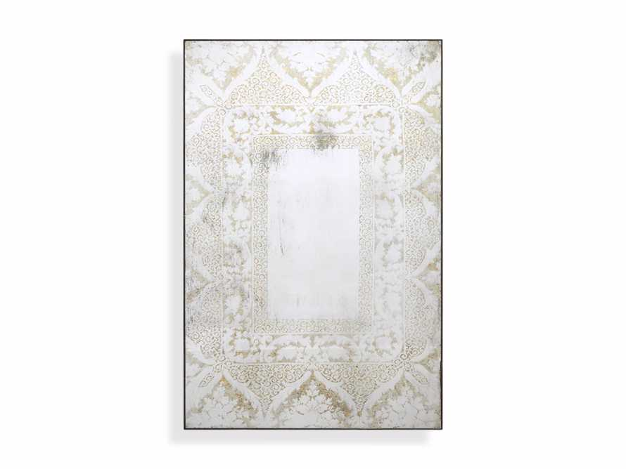 "SOLANGE 48"" WALL MIRROR IN WHITE, slide 2 of 2"