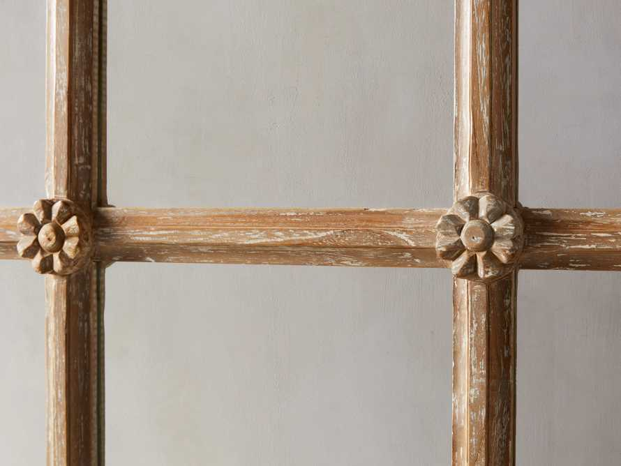 Teak Twelve Panel Mirror, slide 2 of 5