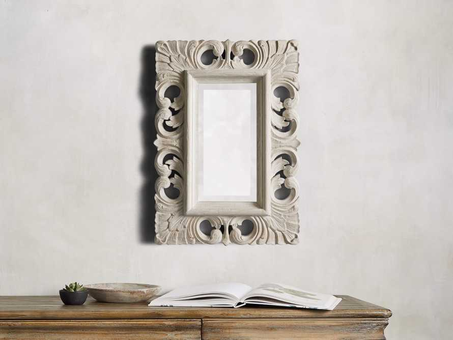 "Porter 17"" Extra Small Mirror in Acanthus Linen"