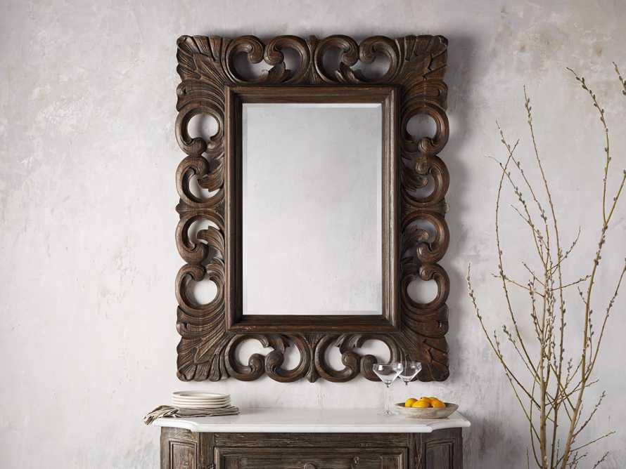 "Porter 41"" Mirror in Dark Brown, slide 1 of 3"