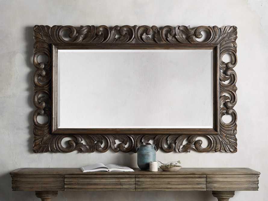 "Porter 53"" Large Mirror in Dark Brown, slide 2 of 5"