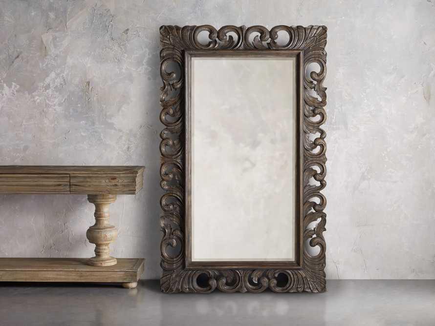 "Porter 53"" Large Mirror in Dark Brown, slide 1 of 5"